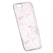 Husa Silicon Transparent Slim Pink Flower 113 Apple iPhone 6 PLUS 6S PLUS