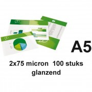GBC A5 lamineerhoezen glanzend 2x75 micron 100 stuks