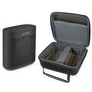 Bose SoundLink Color II Bluetooth Speaker, Soft Black, with Portable Hardshell Travel Case