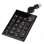 Клавиатура HAMA SK140 (50448), цифрова, черен, USB