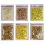 eshoppee 8/0 yellow family colors seed beads for jewellery making and home decoration 6 pack x 40 gm 240 gm