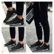 Respirable Superficie Neta Zapatos Deportivos Ocio Para Correr Ligero Amortiguamiento -Negro