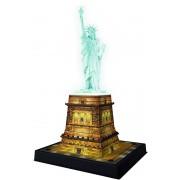 Puzzle 3D Ravensburger - Luminos Statuia Libertatii, 108 piese (12596)