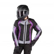 IXS Chaqueta de Moto iXS Sport Andorra-Air Mujer Negro-Gris-Violeta