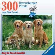 Ravensburger 300 Pc Jigsaw Puzzle Golden Retrievers Golden Beauties [Large Size Version]