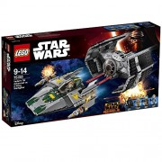 Lego Vader's TIE Advanced Vs a Wing Starfighter, Multi Color
