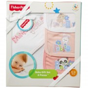 Conjunto de 4 Toallas Fisher Price-Rosado