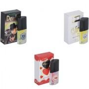 Skyedventures Set of 3 Devdas-Silent Love-Younge Heart Red Perfume