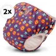 Wasbare zwemluier Bambinex - Maat XS | Lucky Purple | 2 stuks | Luiers