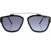 Debonair Retro Square Sunglasses(Blue)