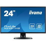 "IIYAMA ProLite X2481HS-B1 - LED-monitor - 24"" (23.6"" zichtbaar) - 1920 x 1080 Full HD (1080p) - VA - 250 cd/m² - 3000:1"