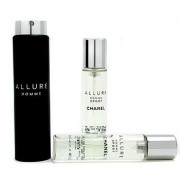 Allure Homme Sport Eau De Toilette Travel Spray (With Two Refills) 3x20ml/0.7oz Allure Homme Sport Тоалетна Вода Спрей за Пътуване ( с Два Пълнителя )