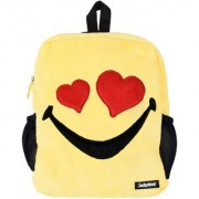 Smiley World Heart Eyes Soft Toy School Bag 14 Inch Yellow by Ultra