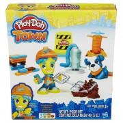 Set Plastilina Play Doh Town figurina si animalut Hasbro