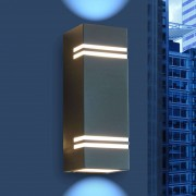 Eco-Light Moderno aplique de pared exterior LED Rayas