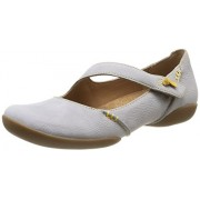 Clarks Women's Felicia Plum Stone Nubuck White Leather Fashion Sandals - 4 UK/India (37 EU)