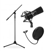 Stage & Studio Microphone Set CM001B with Microphone, Tripod and Microphone Shield