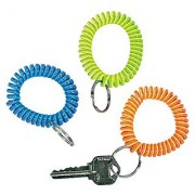 Fun Express Neon Coil Keychain Bracelets Party Favors - 12 Pieces