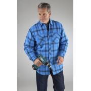 Hollzfäller- Flanellhemd, Farbe blau/kariert, Gr. 2XL