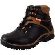 Fausto Men Black Lace-Up Boots
