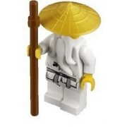 Lego Ninjago Sensei Wu Minifigure with Gold Hat