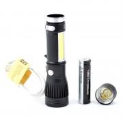 Lanterna de Mana 1led XLT6 + 1COB led + Acumulator 3,7V Li-ion
