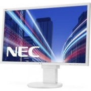 NEC MultiSync E243WMi white 23.8' LCD monitor with LED backlight, IPS panel, resolution 1920x1080, VGA, DVI, DisplayPort, 110 mm height adjustable