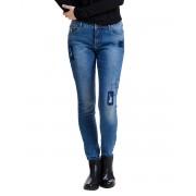 ONLY Carmen Patch Reg Skinny Fit Jeans