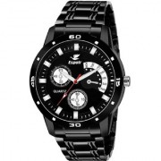 Espoir Black Round Dial Stainless Steel Strap Analog Watch for Men - Darkstorm
