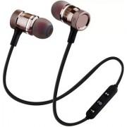 agnet Earphone 2018 New Wireless Metal Sport bluetooth earphone Magnet stereo earbuds with mic light weight headphones