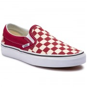 Vans Tenisówki VANS - Classic Slip-On VN0A38F7VLW1 (Checkerboard) Rumba Red