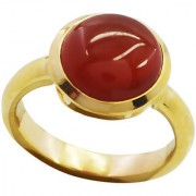 Red Onyx Gold Pleted Ring tantalizing Red gemstones Indian gift