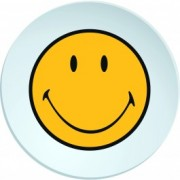 Farfurioara Smiley Deep Galben/Alb, Ø20 cm
