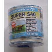 Taśma Super S40 niebieska 100m