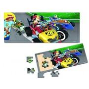 Mickey si Pilotii de curse - Puzzle lemn, 21 piese