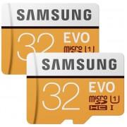 2pcs x Cartes Micro SD SDHC Samsung Evo 32 Go 95 Mo/s