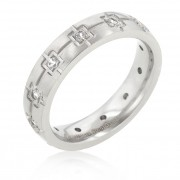 J. Goodin Stainless Steel Etched Eternity Band Ring STR0079V-C01