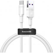 Cablu de date/incarcare Baseus, Durable USB Type-C 1M, 5 A, Alb
