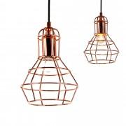 [lux.pro]® Dekoratívní designové závěsné svítidlo / stropní svítidlo - měděné (1 x E27) HT168061
