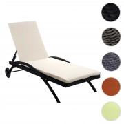Sonnenliege Kastoria, Relaxliege Gartenliege, Poly-Rattan ~ Variantenangebot
