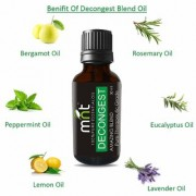 MNT DECONGEST AMAZING BLEND ESSENTIAL Oil (30 ML) Pure Therapeutic Grade For Mind & Body Sense of Relaxation