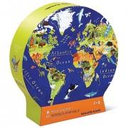 Puzzle Educativ, Descoperă Harta Lumii în Cutie cu Formă Originală