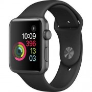 Apple Watch (Serie 2) 42mm Aluminio Gris espacial Correa deportiva Negra