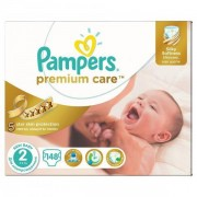 Scutece Premium Care 2 New Baby Mega Box 148 buc, Pampers