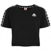 Kappa T-Shirt Donna Banda Appua, Taglia: XS, Per adulto Donna, Nero, 303WGQ0 A0M