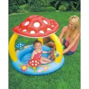 Piscina cu acoperis bebelus Funny Mushroom