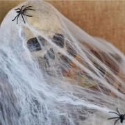 Noctilucent Spider Web With 2 Spiders Halloween Home Party Haunted House Decor