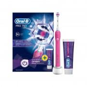 Periuta de dinti electrica Oral-B Pro 750 + pastă de dinți roz