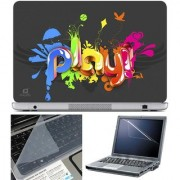 Finearts Laptop Skin Play 3D With Screen Guard And Key Protector - Size 15.6 Inch