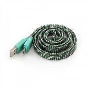 Kabl USB 2.0 na microUSB M/M zelena S-Box, 1m